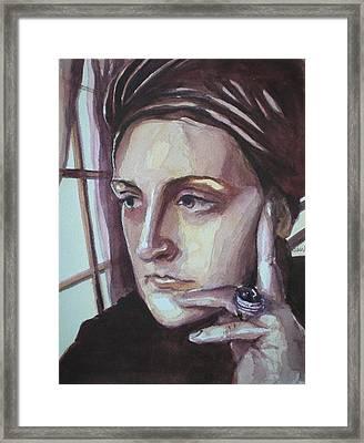 Self-portrait At 30 Framed Print by Aleksandra Buha