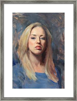 Self Portrait At 30 Framed Print by Anna Rose Bain