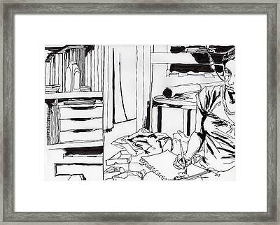 Self-portrait Framed Print by Catarina Garcia