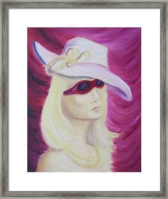 Self Portrait In Las Vegas Framed Print by Suzanne  Marie Leclair