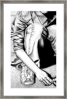 Self Portrait Framed Print by Jera Sky