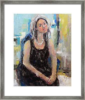 Self Portrait Of Becky Kim Framed Print by Becky Kim