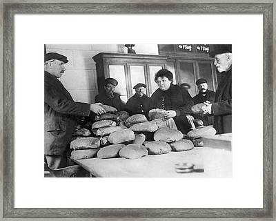 Selling Bread In France Framed Print by Underwood Archives