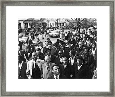 Selma To Montgomery March Framed Print by Underwood Archives