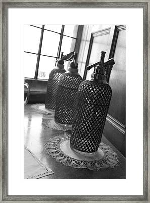 Seltzer Bottles Framed Print by Lauri Novak
