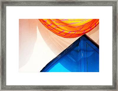 Semi Circle Vs Triangle Framed Print by Prakash Ghai