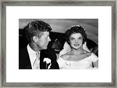 Senator John F. Kennedy, Jacqueline Framed Print by Everett