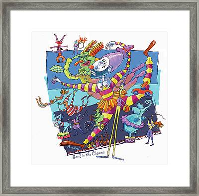 Send In The Clowns Framed Print by Annabel Lee