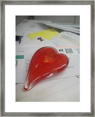 Sending You My Heart Through The Mail Framed Print by WaLdEmAr BoRrErO
