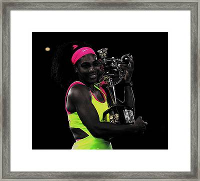 Senera Williams Sweet Victory Framed Print by Brian Reaves