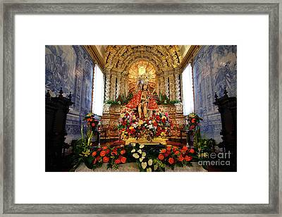 Senhor Bom Jesus Da Pedra Framed Print by Gaspar Avila