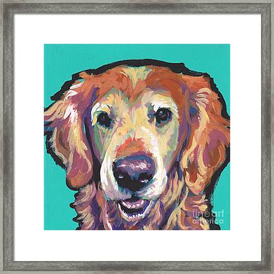 Senior And Golden Framed Print by Lea S