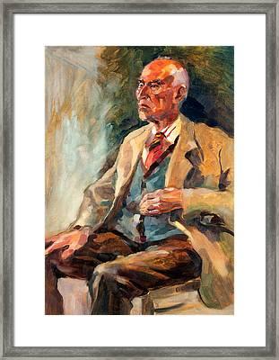 Senior Man  Portrait By Ivailo Nikolov Framed Print by Boyan Dimitrov