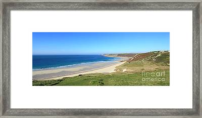Sennen Cove - Panoramic Framed Print by Carl Whitfield