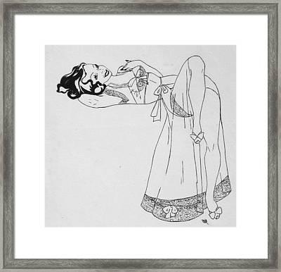Senorita Rosa Framed Print by Beverly Solomon Design