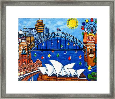 Sensational Sydney Framed Print by Lisa  Lorenz