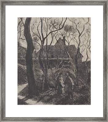 Sentier Des Pouilleux  Pontoise  Framed Print by Camille Pissarro