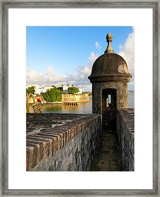 Sentry Post On Old City Wall Framed Print by George Oze