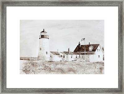 Sepia Afternoon Framed Print by Monte Toon