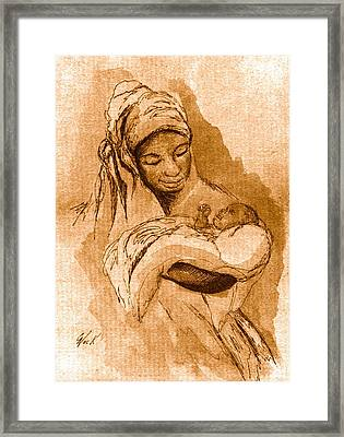 Sepia Madonna Framed Print by George Nock