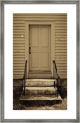 Sepia Shaker Door Framed Print by Stephen Stookey
