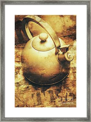 Sepia Toned Old Vintage Domed Kettle Framed Print by Jorgo Photography - Wall Art Gallery