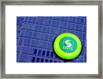 Septa Sign Framed Print by Olivier Le Queinec