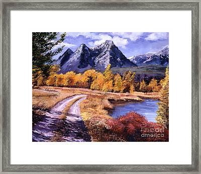 September High Country Framed Print by David Lloyd Glover