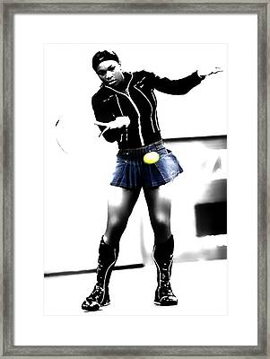 Serena Williams 03b Framed Print by Brian Reaves