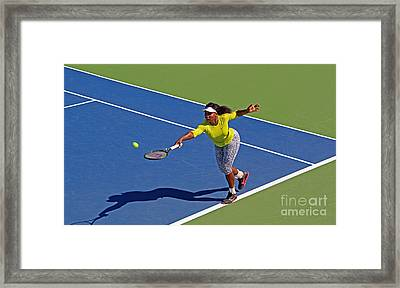 Serena Williams 1 Framed Print by Nishanth Gopinathan