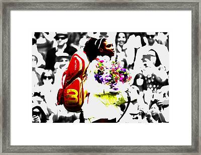 Serena Williams 2f Framed Print by Brian Reaves