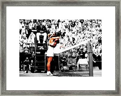 Serena Williams And Angelique Kerber 1a Framed Print by Brian Reaves