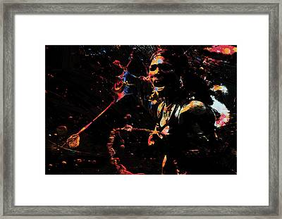 Serena Williams Color Splash Framed Print by Brian Reaves