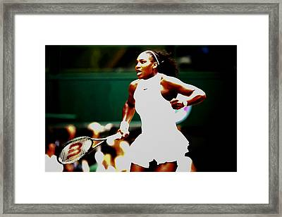 Serena Williams Making History Framed Print by Brian Reaves