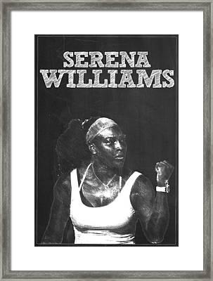 Serena Williams Framed Print by Semih Yurdabak