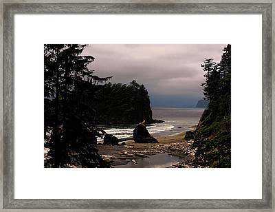 Serene And Pure - Ruby Beach - Olympic Peninsula Wa Framed Print by Christine Till