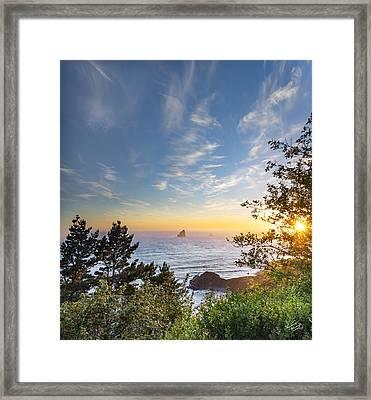 Serene Coast Framed Print by Leland D Howard