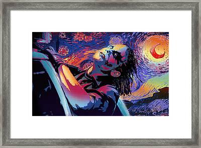 Serene Starry Night Framed Print by Surj LA