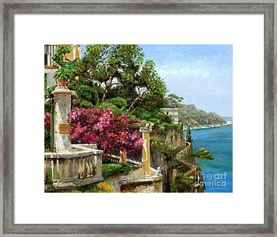 Serene Sorrento Framed Print by Trevor Neal