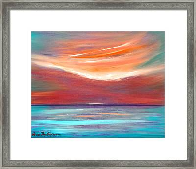 Serenity 2 - Abstract Sunset Framed Print by Gina De Gorna