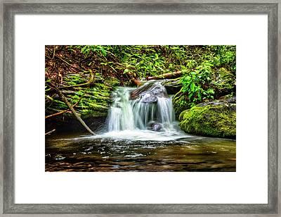 Serenity Falls Framed Print by Debra and Dave Vanderlaan