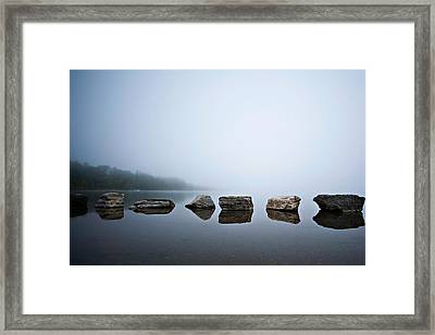 Serenity In Color Framed Print by Lisa Walsh