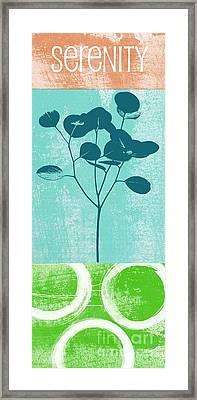 Serenity Framed Print by Linda Woods