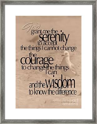 Serenity Prayer 04 Framed Print by Vicki Ferrari
