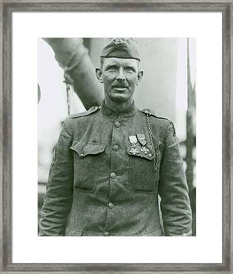 Sergeant Alvin York Framed Print by War Is Hell Store