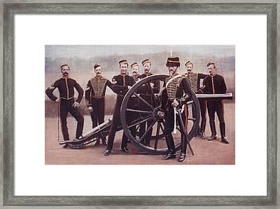 Sergeants Of The Royal Horse Artillery Framed Print by Vintage Design Pics