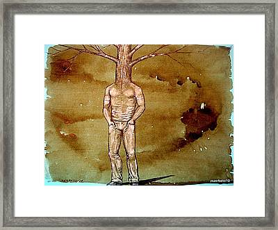 Series Trees Drought Framed Print by Paulo Zerbato