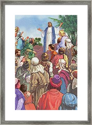 Sermon On The Mount Framed Print by Valer Ian