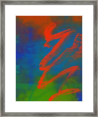 Serpentina Harmonica Framed Print by Diretorio do Design