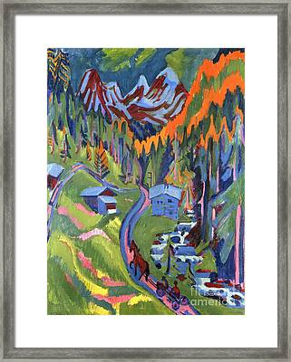 Sertig Path In Summer Framed Print by Ernst Ludwig Kirchner